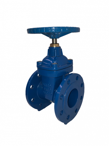 80mm Flanged Epoxy Coated Ductile Iron Gate Valve with handwheel
