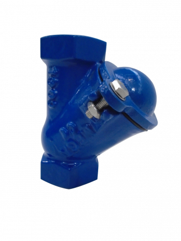 Epoxy Coated 80mm Screwed BSP Ductile Iron Ball Check Valve.