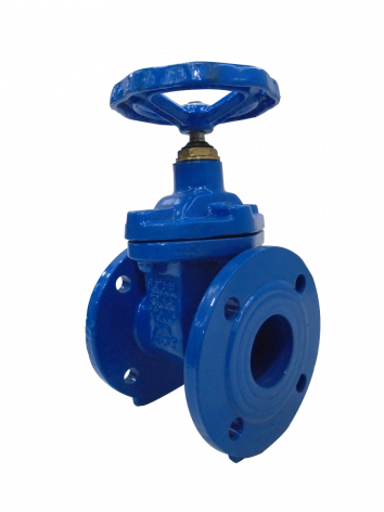 65mm Flanged Epoxy Coated Ductile Iron Gate Valve with handwheel