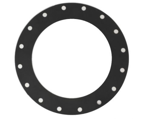350mm rubber gasket, EPDM, black with 16 holes