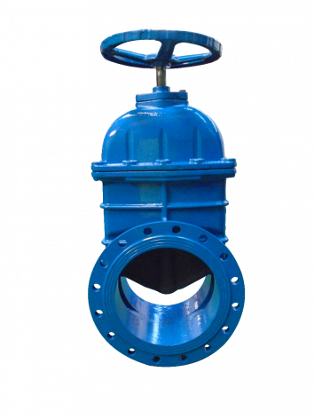 400mm Flanged Epoxy Coated Ductile Iron Gate Valve with handwheel
