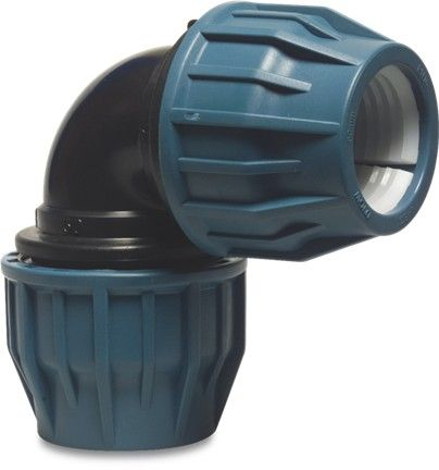 Blue 90° Compression Coupler 63mm
