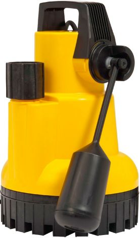 KSB AMA Drainer submersible motor pump, IP 68 rated. Yellow body with handle