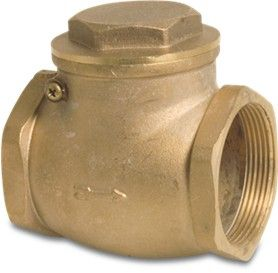 "4"" Brass Swing Check Valve with BSP thread"