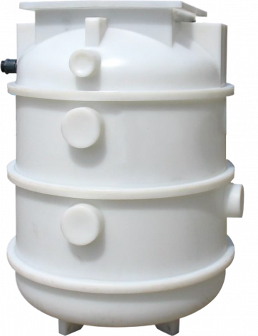 Kwikflo K160 Polyethylene Underground Chamber - Dual Pump with Guide Rail