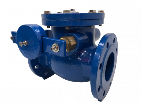 200mm Metal Seat Cast Iron Check Valve with lever & weight