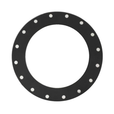 450mm rubber gasket, EPDM, black with 20 holes