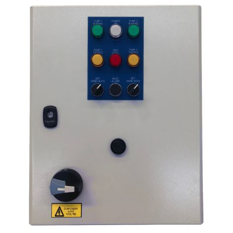 Electromechanical Control Panel, Dual Pump, Single Phase