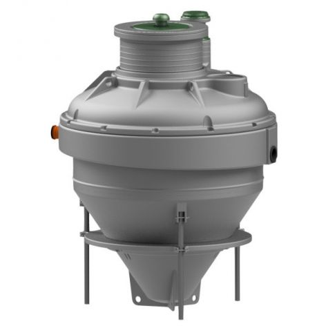 Grey Condor ASP08 sewage treatment plant with green access cover