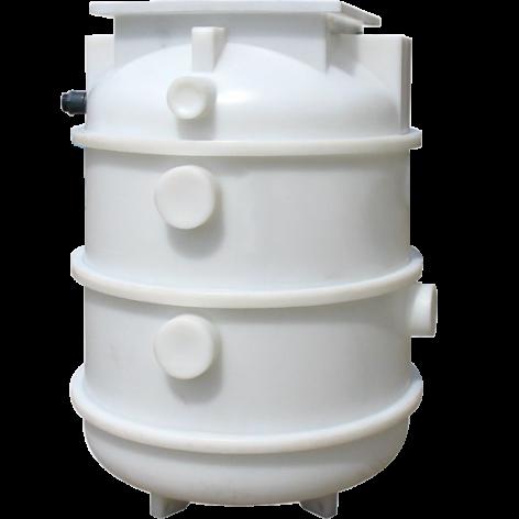 Kwikflo K160 Polyethylene Underground Chamber - Single Pump with Guide Rail